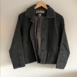 Columbia Wool Button up Bomber Jacket